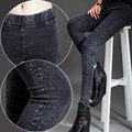 Winter And Spring Casual Plus Velvet Denim Pencil Leggings Women Trousers Pants Capri 9 Color Elastic Leggings Fitness Plus Size