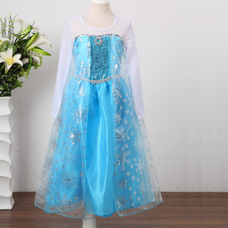 HTB1w6yInDnI8KJjy0Ffq6AdoVXaU Queen Elsa Dresses Elsa Elza Costumes Princess Anna Dress for Girls Party Vestidos Fantasia Kids Girls Clothing Elsa Set