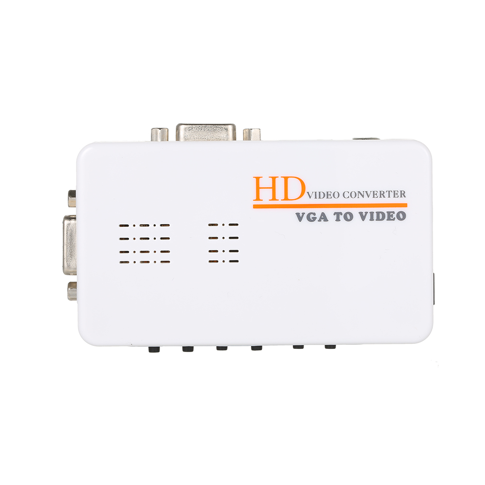 VGA to RCA S-Video Adapter PC Laptop to TV Video Converter Composite Switch Box for smart tv television pc laptop composite video tv rca composite s video av in to pc vga lcd out converter adapter switch box