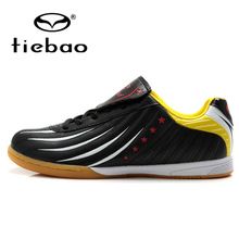 TIEBAO Professional Indoor Soccer Shoes IN & IC Rubber Sole Football Boots Men Women Athletic Training Shoes voetbal schoenen