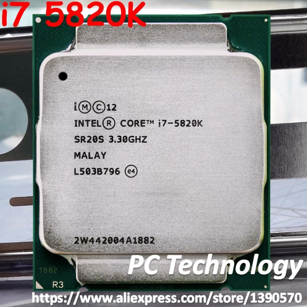Original Intel core processor i7 5820K SR20S 6 Cores 3 30GHz 22nm 15MB 140W CPU LGA2011