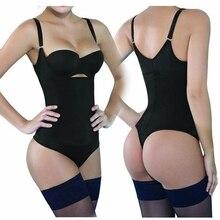 Thong Shapewear Bodysuit Sexy Latex Waist Trainer Slimming Corset Tummy Control Underwear Women Full Body Shaper Slip Butt Lift