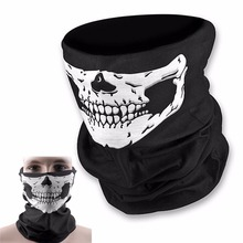 Skull Bandana Bike Motorcycle Helmet Neck Face Mask Paintball Ski Sport Headband Scarf free shipping