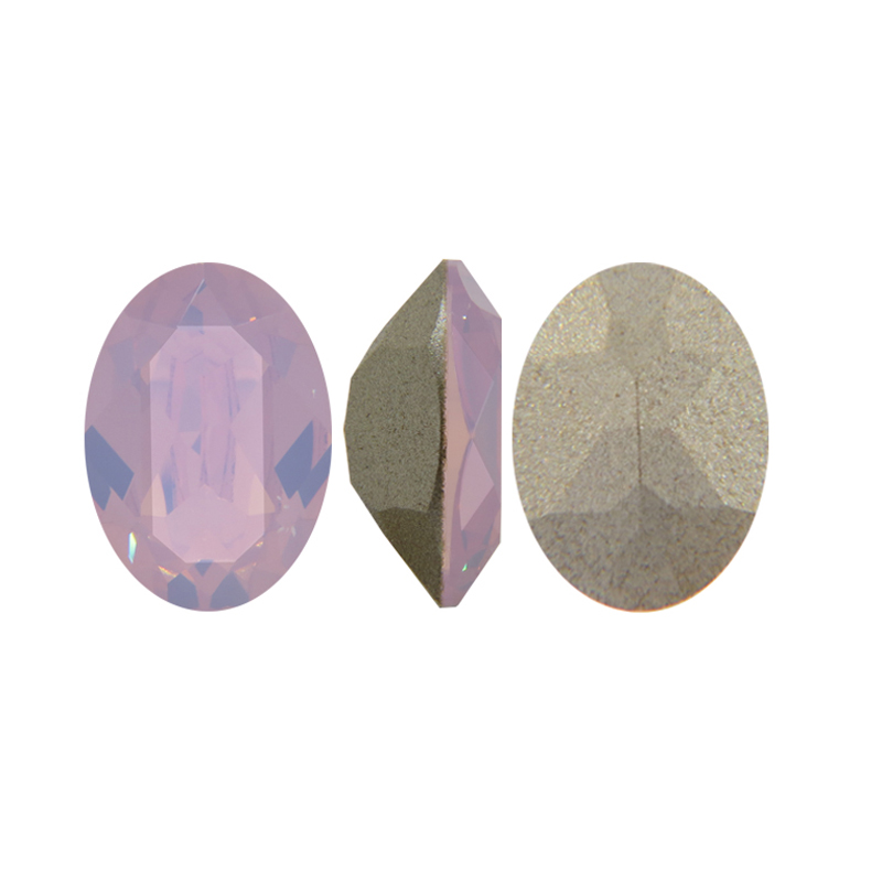 #4120 10*14mm 13*18mm 18*25mm  Oval Fancy Crystal Pointed Back Rose water Opal 3d Nail Art crystal decorations rhinestones