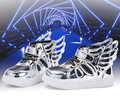 Meninos wings' shoes hot vender primavera outono do bebê led shoes crianças princesa meninas com luz led crianças pu tênis iluminadas