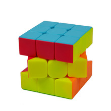 Colorful 3x3x3 Three Layers Magic Cube Profissional Competition Speed Cubo Non Stickers Puzzle Magic Cube Cool Toy Boy