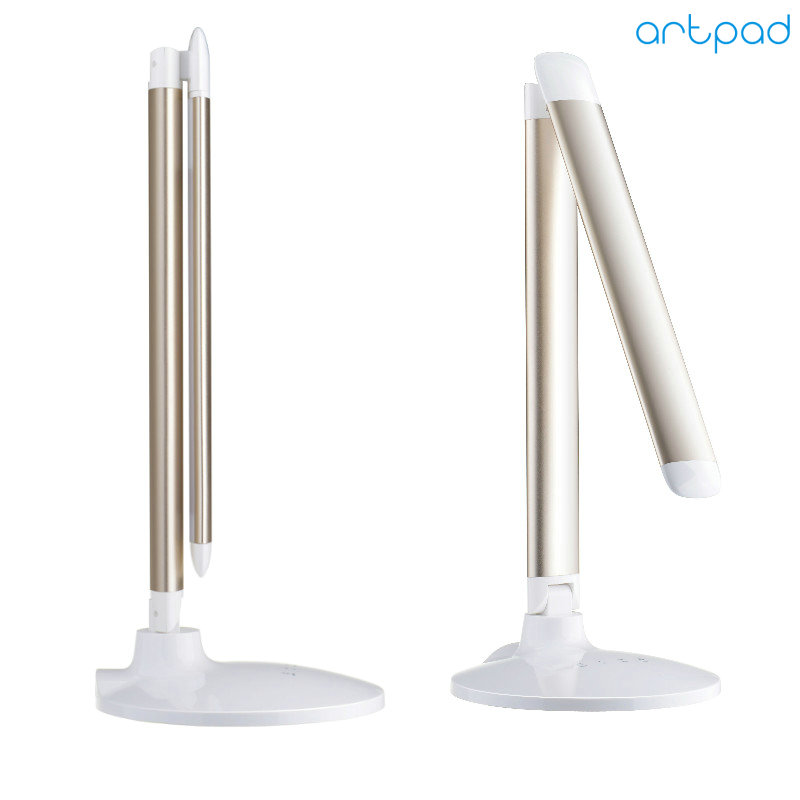 ArtPad Good Sale Dimmable LED Desk Lamp 3-Color Temperature 5-Grade Brightness Folding Touch Switch Stand Book Reading Lamp
