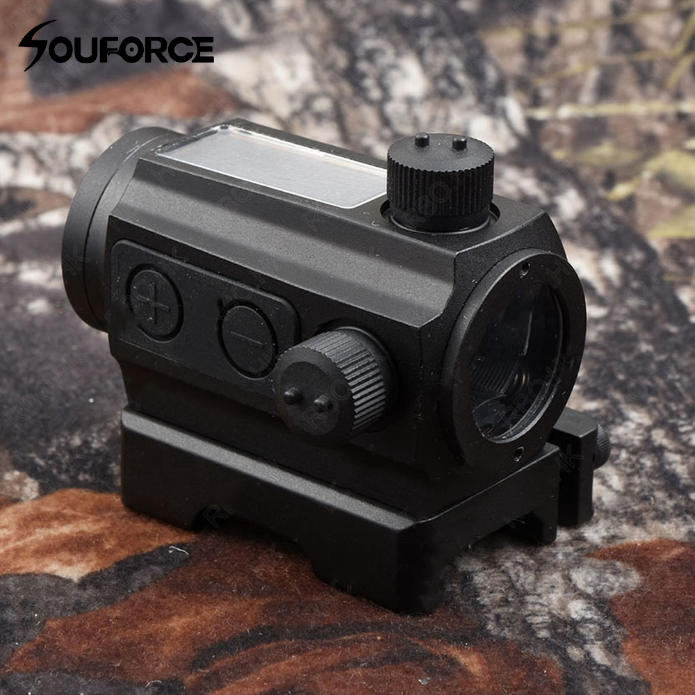 Tactical 1X25 Sloar Power Red Dot Sight Scope Quick Detach Picatinny Rail Mount Holographic Sight for Outdoor Hunting Shooting tactical 4x32 rifle scope and 1x red dot sight scope for picatinny rail fir ar 15 ak 47 hunting shooting