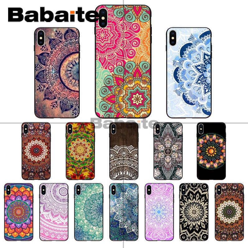 Babaite Kleurrijke Half Bloemen Paisley Bloem Mandala Klant Telefoon Case voor iphone X XS MAX 8 7plus 5S SE 6s XR Cover