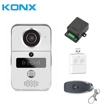 KONX Smart Home 720 WiFi IP Video Door phone intercom Doorbell Wireless Unlock Peephole Camera Doorbell Viewer 220V IOS Android digital wireless wifi video doorbell for iphone ios android system ir camera door viewer door bell with touch calling button