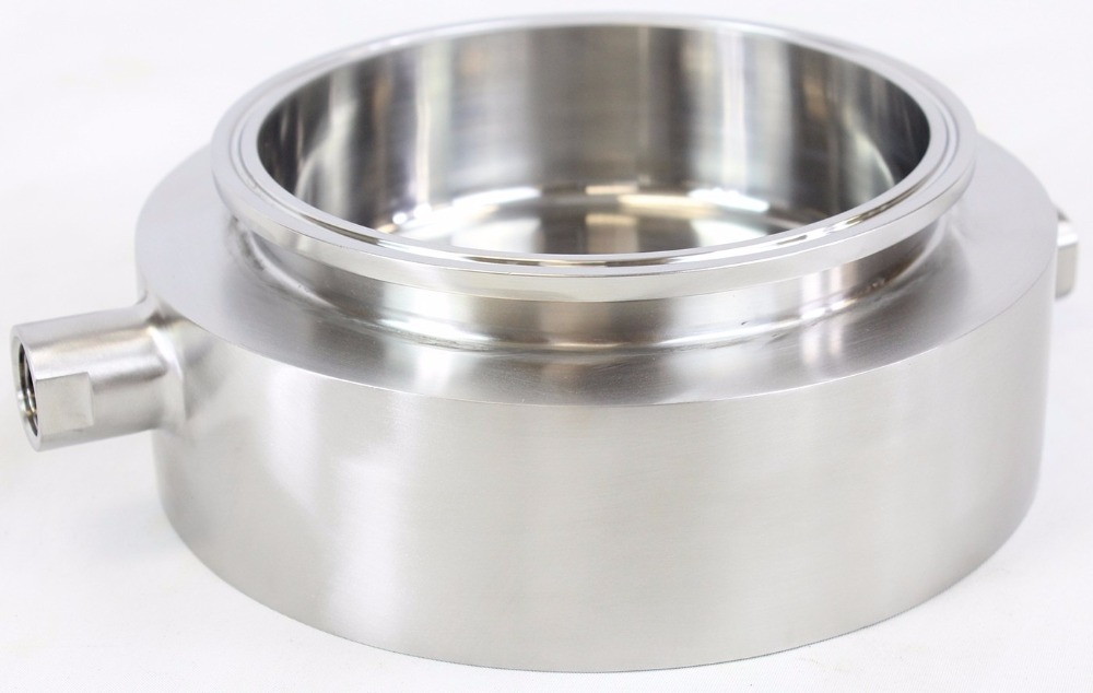"Sanitary 6"" Tri Clamp Jacketed Splatter Platter"