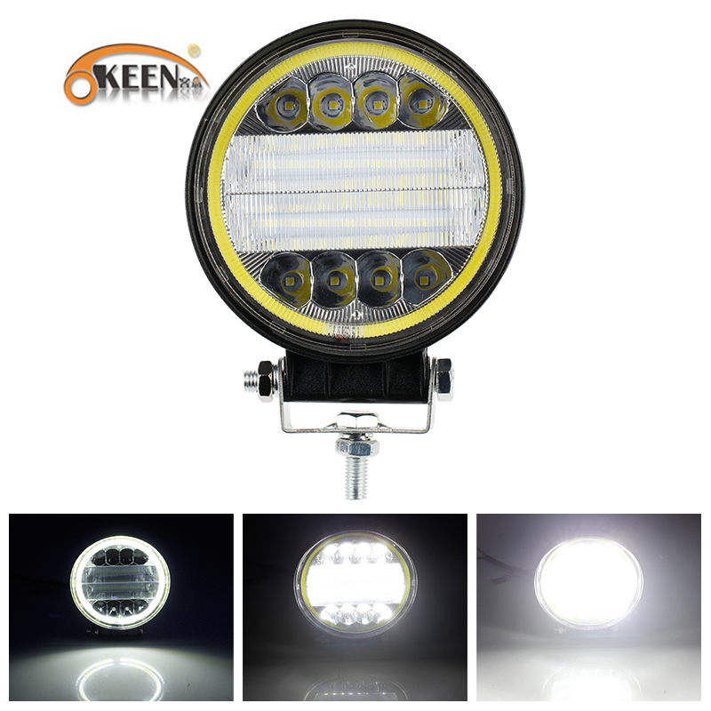 OKEEN 126W LED Work Light 12V 24V Dual Color Combo Beam Led Bar For 4x4 Offroad ATV Truck Tractor Auto Driving Fog LightsOKEEN 126W LED Work Light 12V 24V Dual Color Combo Beam Led Bar For 4x4 Offroad ATV Truck Tractor Auto Driving Fog Lights