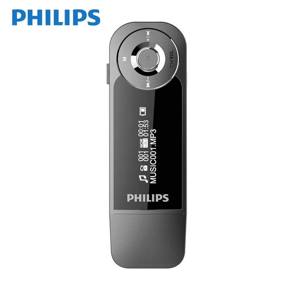 Philips 8GB Mini pince musique lecteur MP3 avec écran Mini pince numérique Mp3 lecteur HIFi avec Radio FM USB SA1208