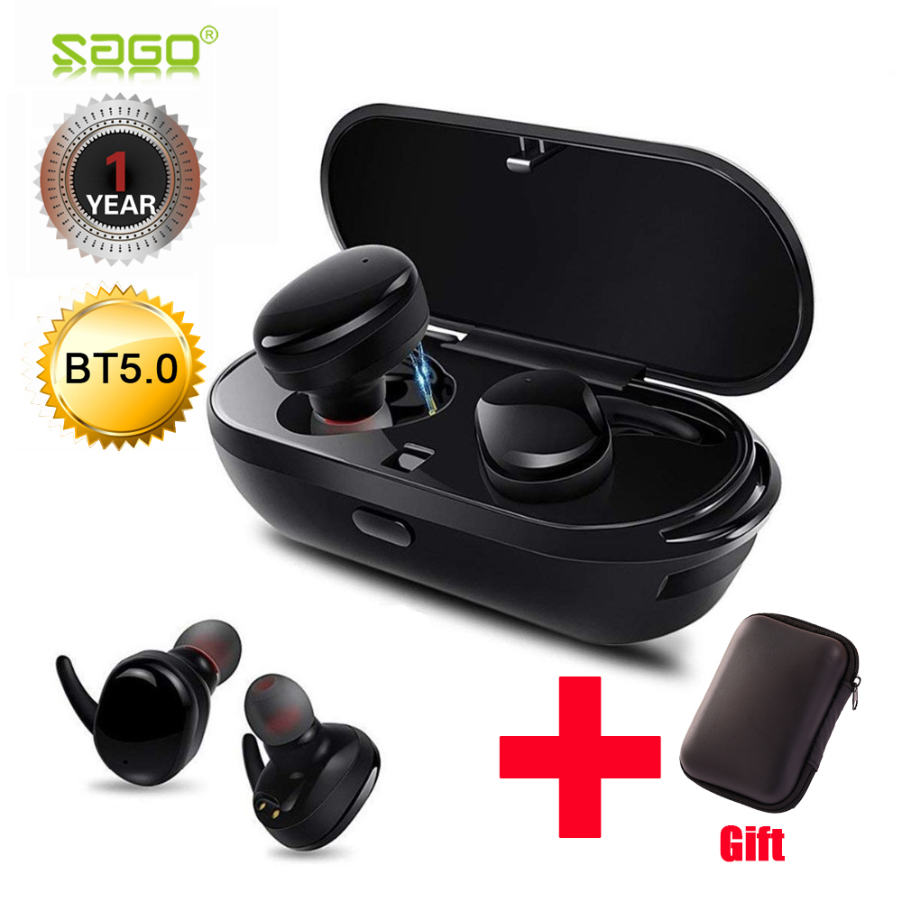 sago sport in-ear earhphones true wireless Bluetooth Waterproof earpiece with microphone and Quiet Touch Key for mobile phone rockspace eb30