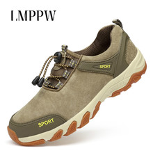 Купить с кэшбэком 2018 Outdoor Men Shoes Comfortable Casual Shoes Fashion Comfortable Father Sneakers High Quality Cow Suede Leather Men Shoes 2A