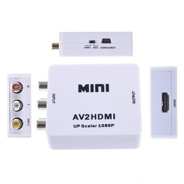 Новый Композитный RCA AV HDMI CVBS, чтобы HDMI Адаптер Поддержка HD 720 P 1080 P А. в. к HDMI Mini AV2HDMI видео Конвертер
