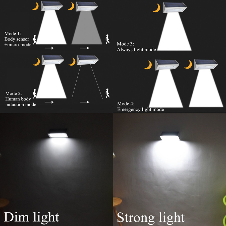 por radar sensor de movimento aluminio luz rua lampada 4 modos 03