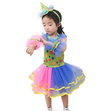 3ec2eb3f5 3-10 t Bonito do Circo Dot Canival Traje Bobo Da Corte Palhaço Criança  Fantasia Colorido Tulle Vestido Tutu Roupa do Dia Das Bru.
