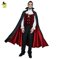 New Wholesale Halloween Costume Gothic Vampire Costumes Europe Vampire Adults Man Cosplay Outfit For Carnival Party