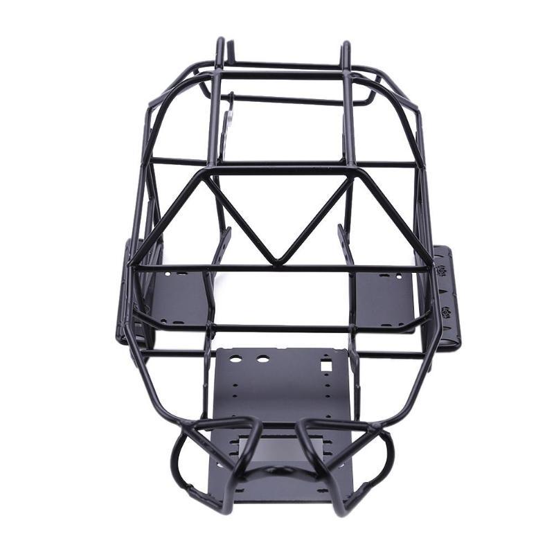 Cadre de châssis modifié par Cage de petit pain en métal noir pour la voiture axiale SCX10II RC détails fins 50*205*155mm