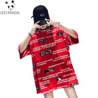 2019 Summer Woman New Fashion T Shirt Plus Size Short Sleeve Long Tops O Neck Print Letter Cartoon Tshirt Tees Female