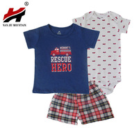 2017 New High Quality Baby Boy Girl Summer Clothes Set Bebes Newborn 3piece Of Set Baby