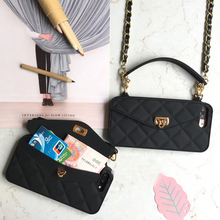Crossbody Wallet Phone Case For iPhone 12 11 Pro Max 10 X 7 8 6 6s Plus SE 2020 XR XS Max Handbag Purse Soft Silicone Back Case