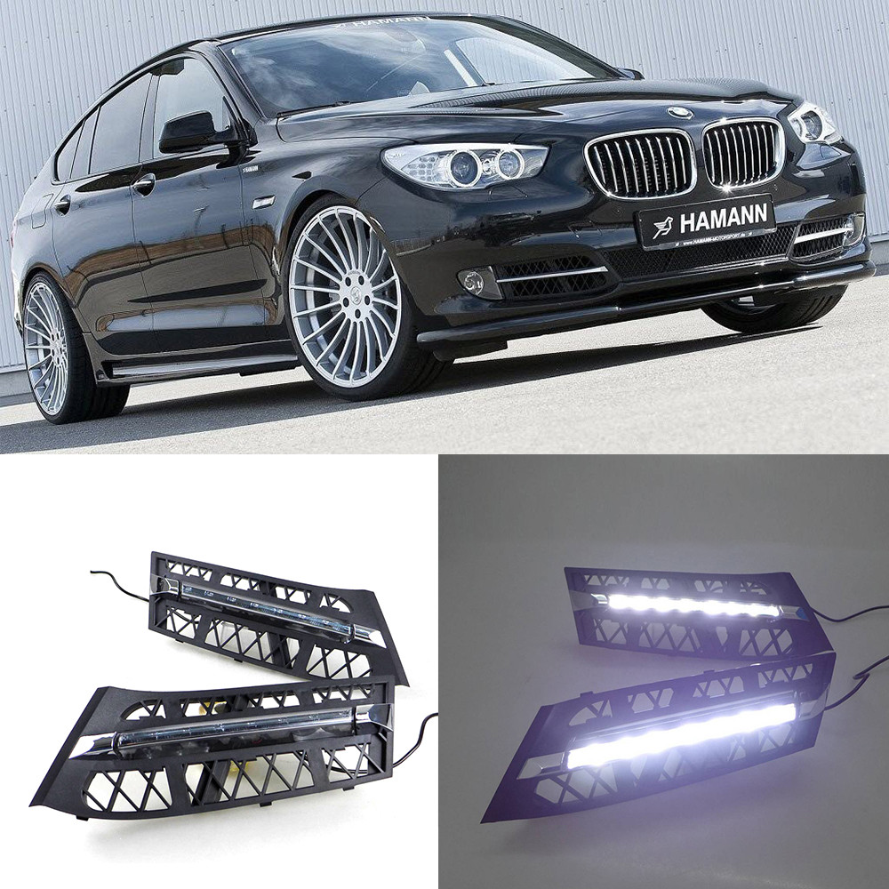 Car DRL Kit for BMW 535i GT 550i GT LED Daytime Running Light Bar super bright auto fog lamp daylight for car led drl light 12v qvvcev 2pcs new car led fog lamps 60w 9005 hb3 auto foglight drl headlight daytime running light lamp bulb pure white dc12v