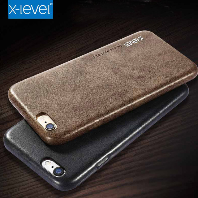promo code f415d a77fc US $7.99 |For iPhone 7 Leather Case, X Level Original Vintage Luxury PU  Leather Silicone Case Shockproof For iPhone 7 Plus Capa-in Fitted Cases  from ...