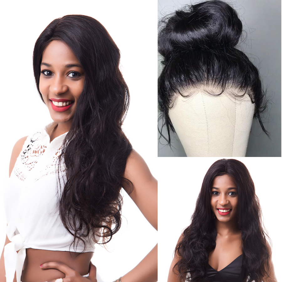 RXY Pre Plucked Full Lace Human Hair Wigs For Women Brazilian Body Wave Glueless Full Lace Wigs With Baby Hair Remy Black Hair (6)