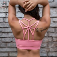 Hot Selling Women Sport Top Athletic Vest Movement Sports Bra Yoga Top Aptitud Bra Popular P113