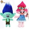 2016 The Newest Movie Trolls Plush Toy Poppy Branch Dream Works Stuffed Cartoon Dolls The Good Luck Trolls Christmas Gifts