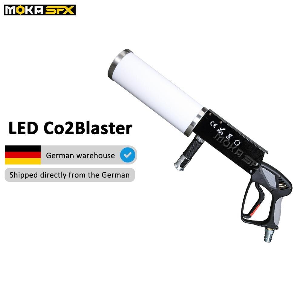 Светодиодный CO2 пистолет ручной держать светодиодный Co2 крио машина RGB красочные CO2 струи сценического освещения эффект с 3 м высокого давлен