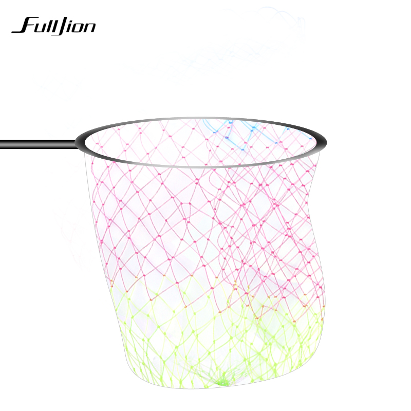 Fulljion fishing nets nylon collapsible rhombus mesh hole for Collapsible fishing net