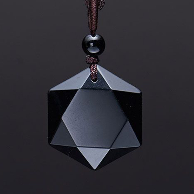 da9f5c243a84 € 8.69 |David Kabel Hombres Piedra Tallada Negro Obsidiana Natural Colgante  Collar en Colgantes de Joyería y accesorios en AliExpress.com | Alibaba ...