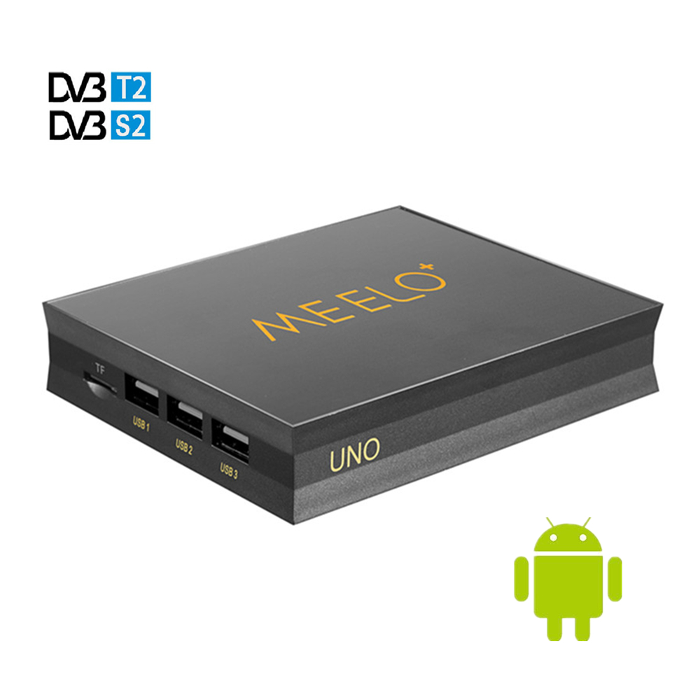 Meelo UNO 2GB 16GB 4K Meelo Uno2 Android 5.1.1 TV Box DVB-T2+DVB-S2 Amlogic S905 Quad Core 1080p Support Power VU BISS KODI android box iptv stalker middleware ipremuim i9pro stc digital connector support dvb s2 dvb t2 cable isdb t iptv android tv box