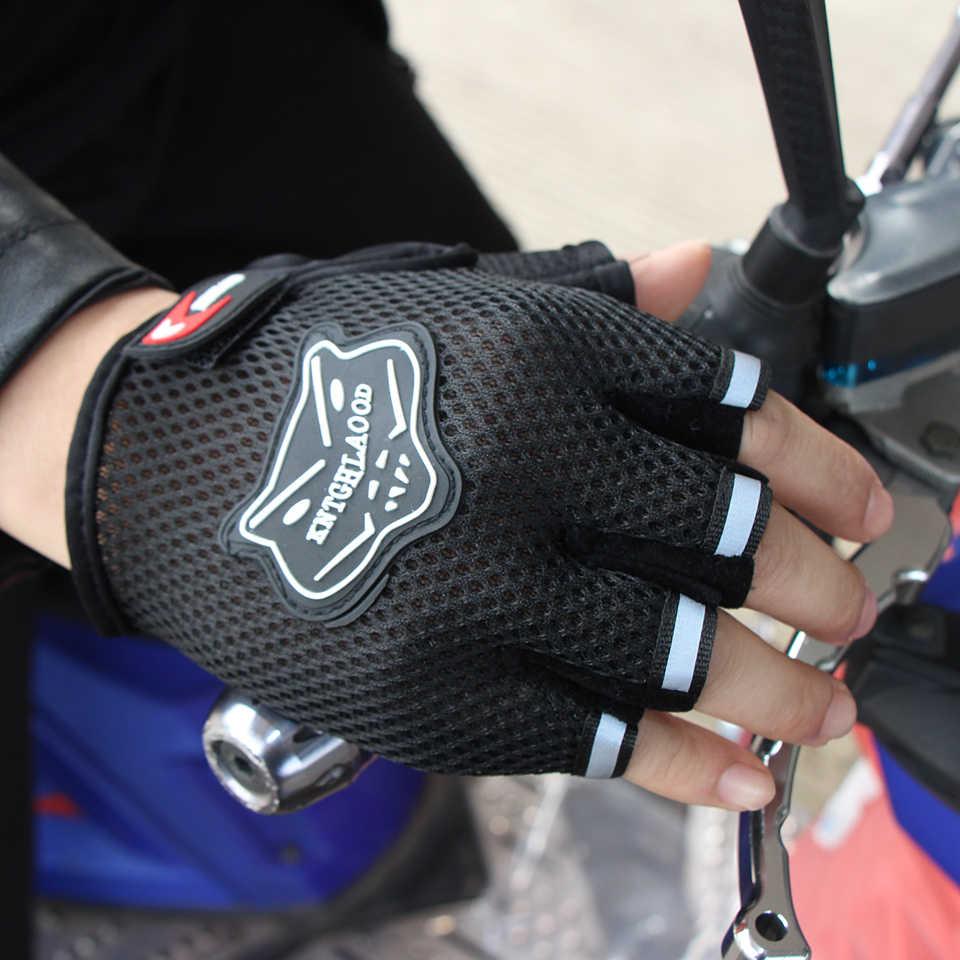 Di Estate di modo di Autunno Sport All'aria Aperta Traspirante Mesh Regolabile Dimensioni Guanti Da Moto Delle Donne Degli Uomini di Fitness Half Finger Guanto di Stile