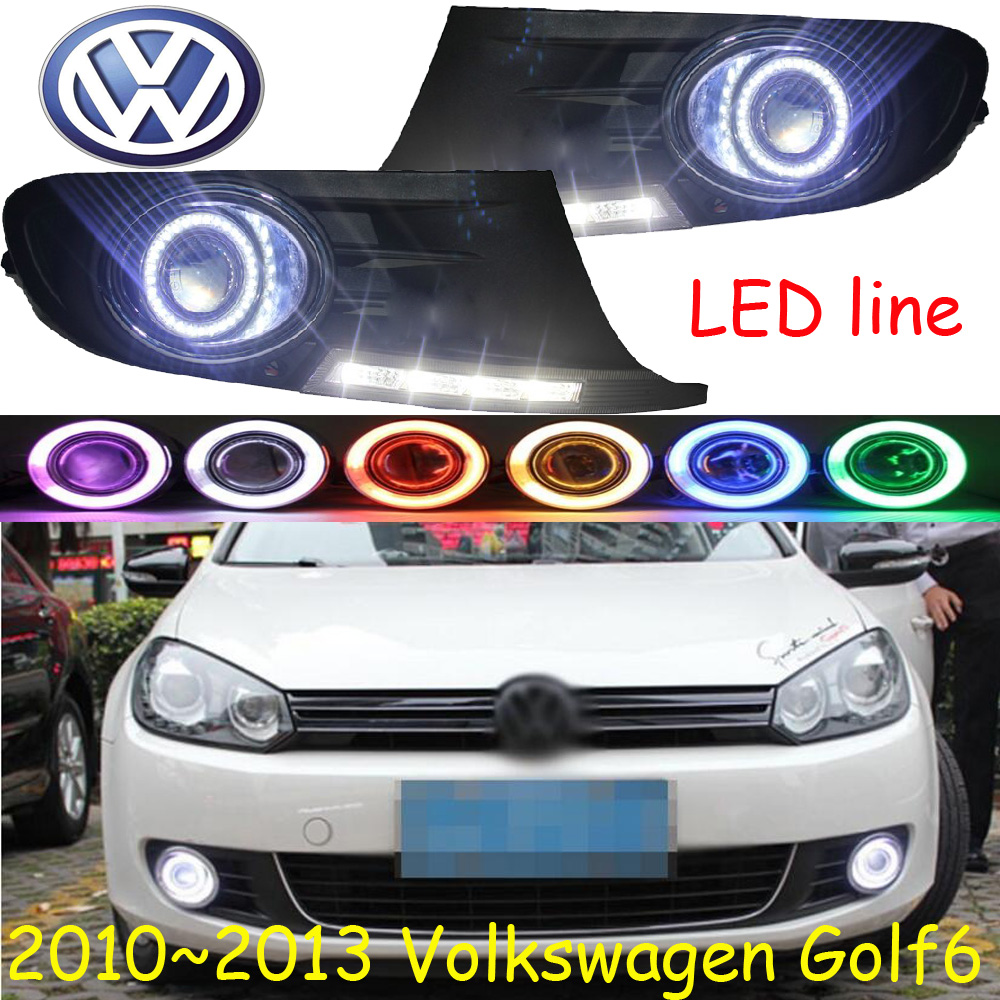 golf6 fog light LED 2010~2013;Free ship!golf daytime light,2ps/set+wire ON/OFF:Halogen/HID XENON+Ballast,golf6 2011 2013 vw golf6 daytime light free ship led vw golf6 fog light 2ps set vw golf 6