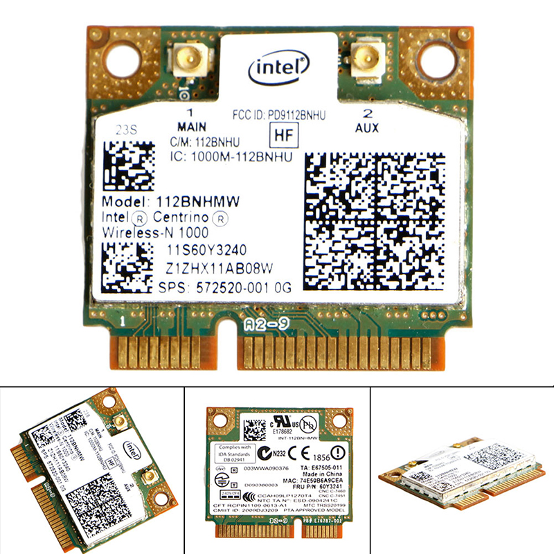 2020 New Intel Centrino Wireless-N 1000 802.11 B/g/n 112BNHMW Half PCI-E Mini Wifi Card