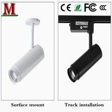 Projectores de zoom, luzes de pista led, luzes de guia de holofotes cob, roupas, tubo de astigmatismo ajustável, holofotes, vento industrial