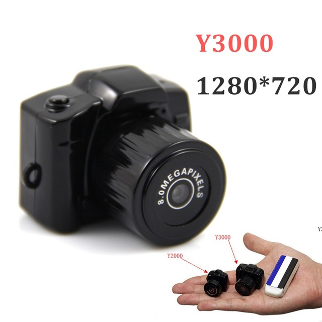 Y3000 Black Mini DV 720P High Definition Mini Camera DV Recorder Camcorder with cable Strap hot selling in Russia/Brazil/Europe