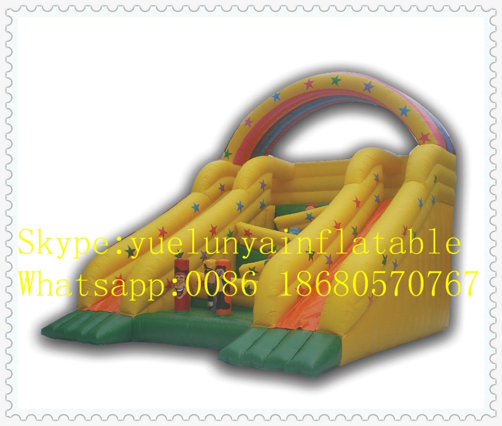 Factory Direct Inflatable Slide,Inflatable Castle, Rainbow Slide, Stair Slide KY-08