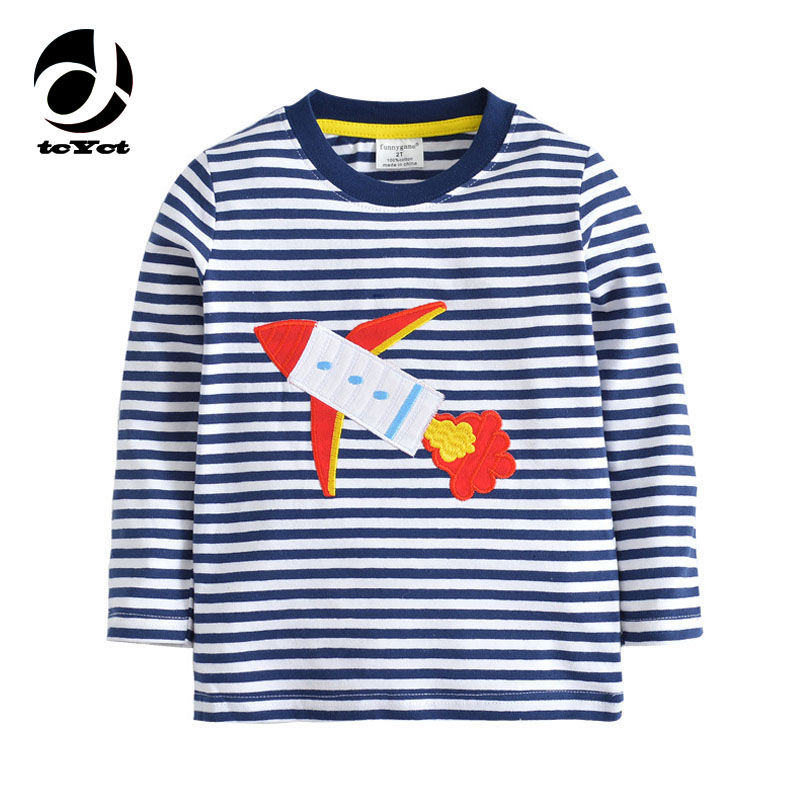 Long Sleeve Cotton T-Shirts For Girls Tees New Brand Striped Girls T-Shirts For Boys Tops Autumn Boys T Shirt Children'S Clothes