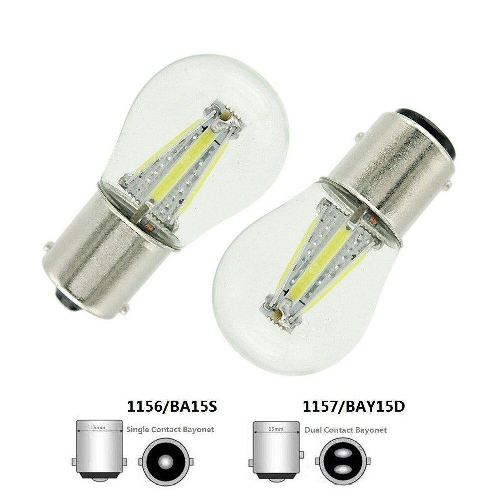 ANBLUB P21W BA15S 1156 1157 BAY15D LED Car Tail Brake Light Bulbs 12V COB Filament Auto Parking Lamp Reverse Bulb DRL Lights
