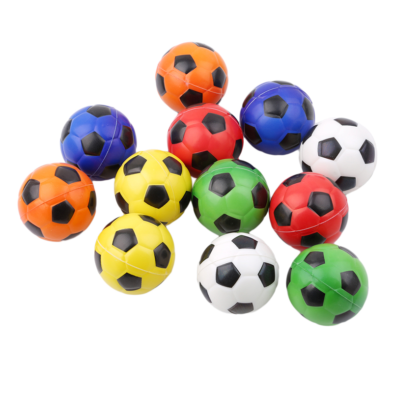 12pcs/pack Colorful Hand Football Exercise Soft Elastic Stress Reliever Ball Kid Small Ball Toy Adult Massage Toys