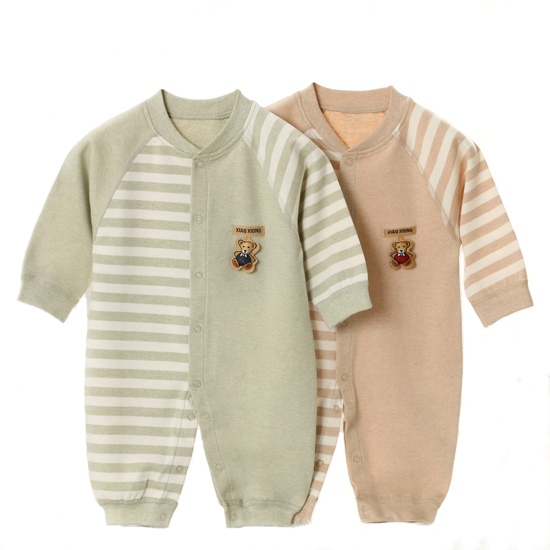 Baby Rompers Long Sleeve Baby Girl Clothing Jumpsuits Children Autumn Organic Cotton Clothing Set Newborn Baby Clothes YJM101 strip baby rompers long sleeve baby boy clothing jumpsuits children autumn clothing set newborn baby clothes cotton baby rompers