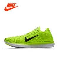 Оригинальный Официальный NIKE Free RN Flyknit MS обувь Открытый дышащий Для мужчин для бега кроссовки Для мужчин спортивные дышащие 842545 700