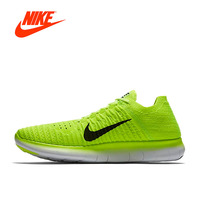 Original Official NIKE Free RN Flyknit MS Shoes Outdoor Breathable Men's Running Sneakers Shoes Men Sports Breathable 842545 700