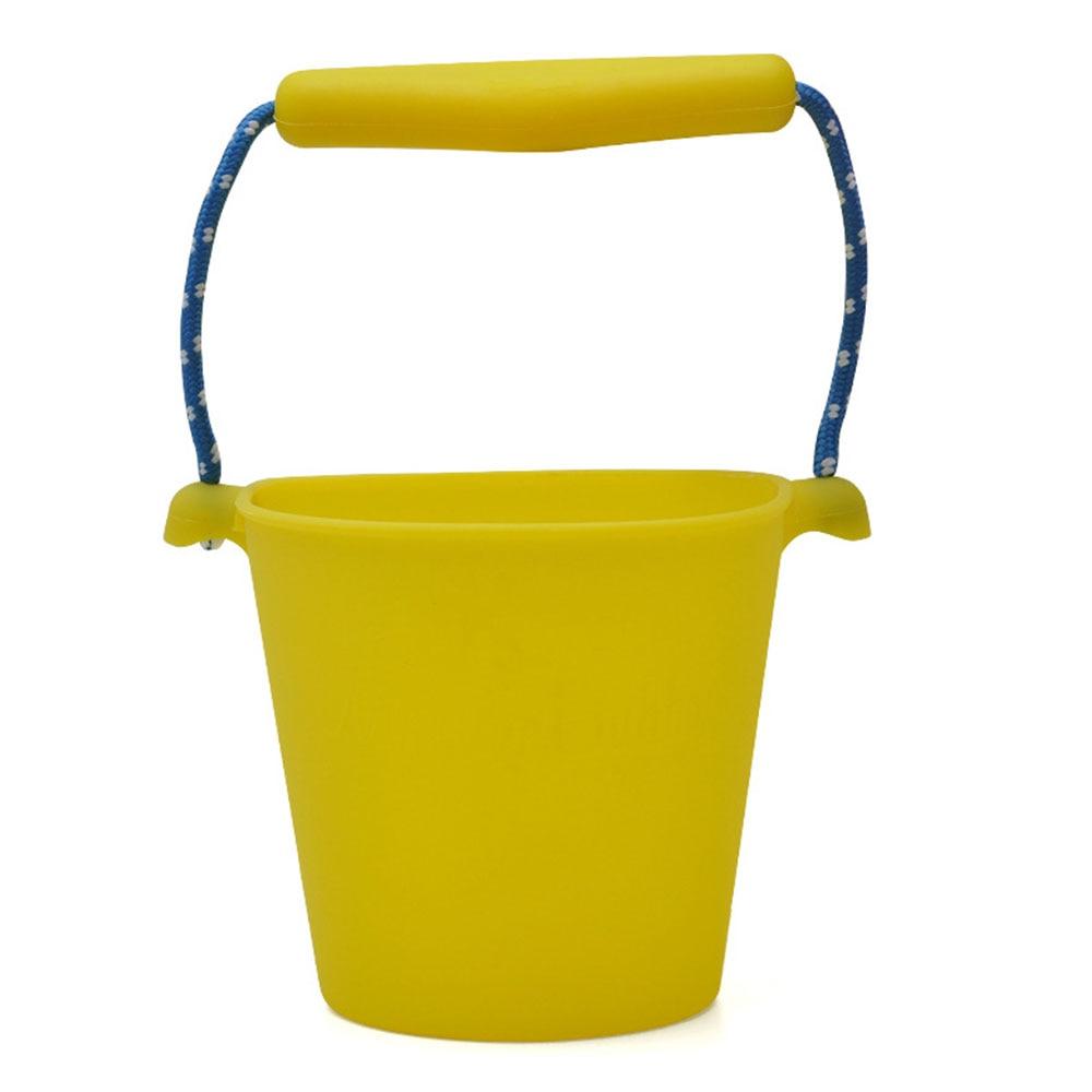 Пляжный набор игрушек для детей силиконовые складные Ручные игры песочный баррель детские игрушки для малышей душевая Ванна игрушка песочные водяные игрушки - Цвет: yellow