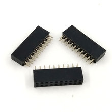 10pcs/lot Brand New High Quality 2×10 Pin 20P 2.54mm Double Row Female Straight Header Pitch Free Shipping